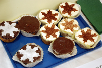 Carrot cupcakes with star icing