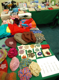 Sale items laid out on tables ready for browsing