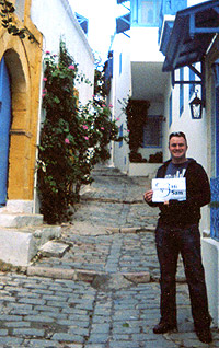 Chris in Sidi Bou Said